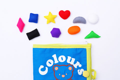Colour Fabric Book, Quiet Book, Sensory Learning, Play based learning