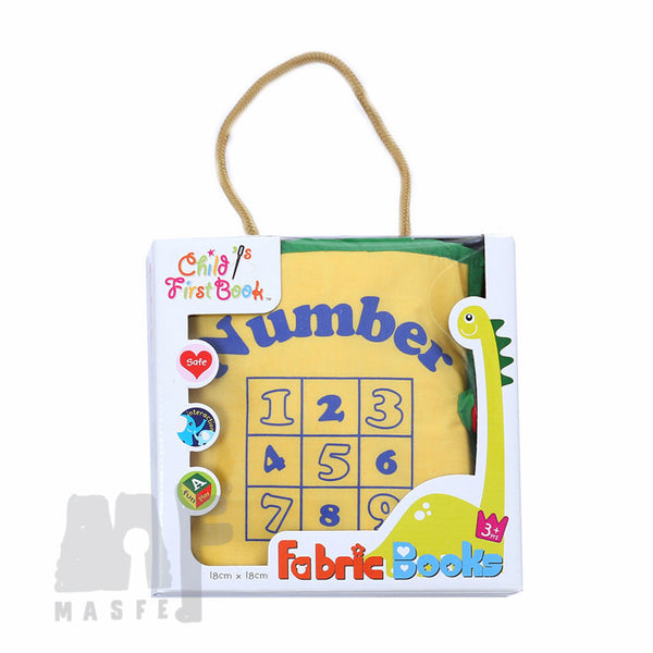 Counting 1-10 Fabric Book (Yellow Cover), Montessori Material, Quiet Book by MasfeMy