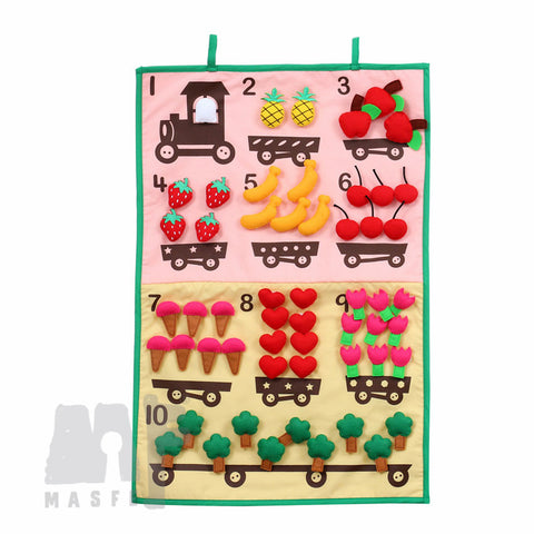 Counting Wall Chart, Counting 1-10 Felt Chart, Learning Number Concept