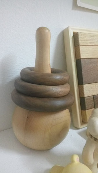 Wooden Ring Stacker - unpainted natural wood