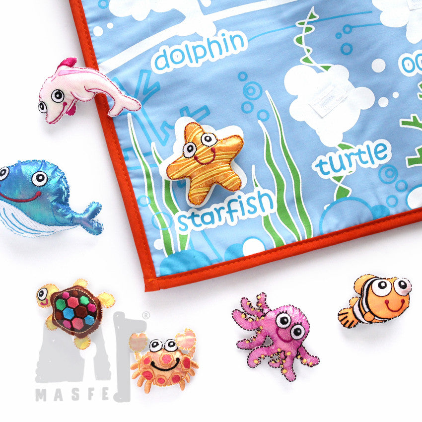 Sea Creature Wall Chart, Sea Life Learning Wall Chart, Play Based Sea Creatures
