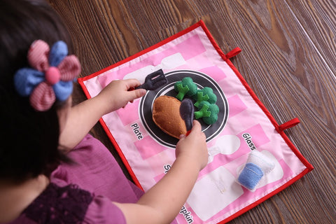 Table Manners Play Set, Self Care Table Manners For Children, Children Lunch Box Learning