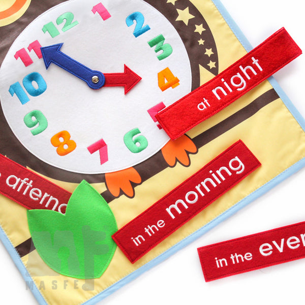 Children Wall Clock, Learning to Tell Time for Kid, Clock for Preschool & Nursery