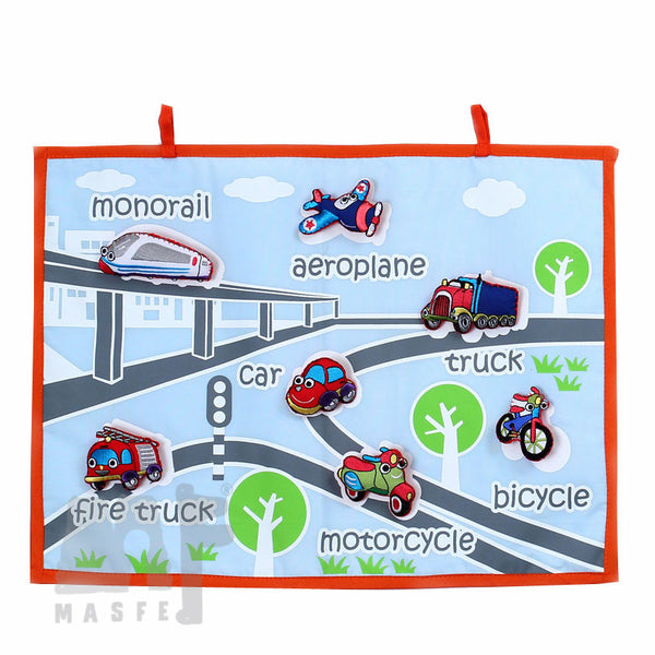 Handmade Transportation Wall Chart, Transportation Wall Chart, Vehicle Learning