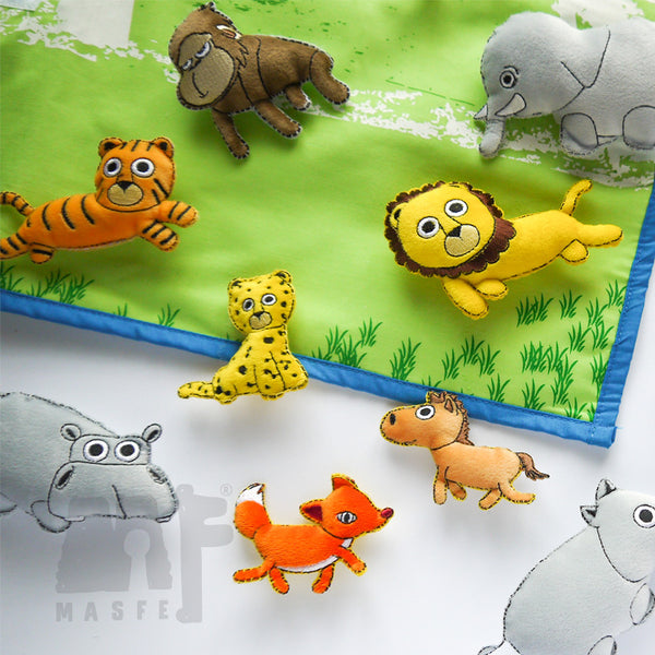 Wild Animal Wall Chart, Jungle Story Telling