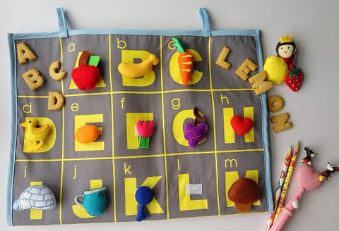 Alphabets Felt Charts, ABC Wall Chart, Teacher supplies