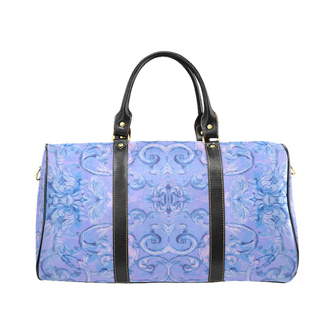 Antique Thai Pattern Blue Travel Bag, Small