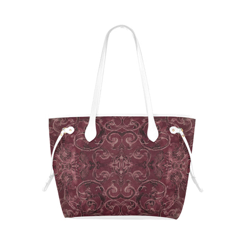 Antique Thai Pattern Burgundy Shoulder Bag