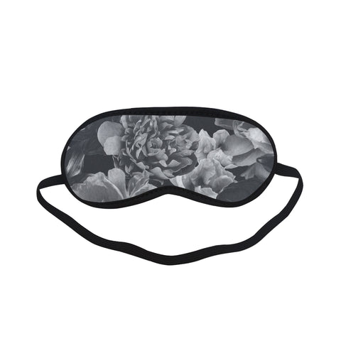 Black Floral Sleeping Mask