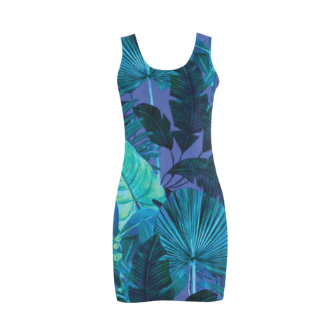 Dark Cool Tropical Mini Bodycon Dress
