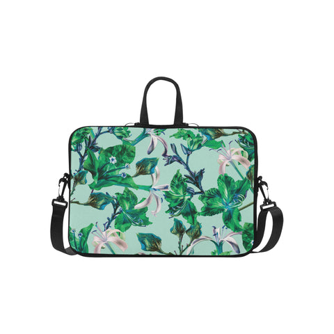 Blue Tropical Bramble Laptop Bag 15.6""