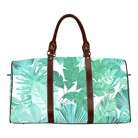 Green Tropical Travel Bags