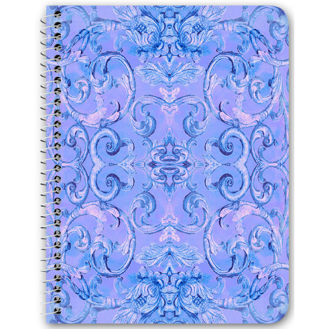 Antique Thai Pattern Spiral Notebook