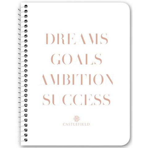 Dreams Goals Ambition Success Notebooks & Journals - 2 Design Options