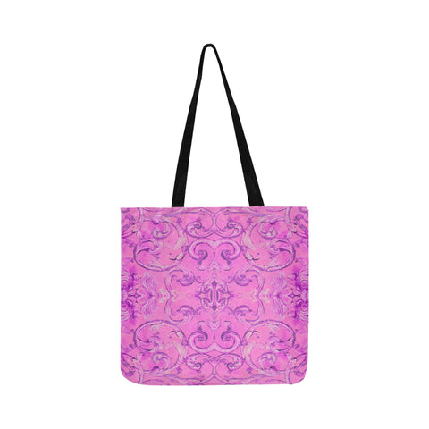 Antique Thai Pattern Pink Tote Bag