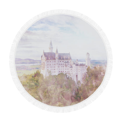 Neuschwanstein Castle Round Beach Blanket