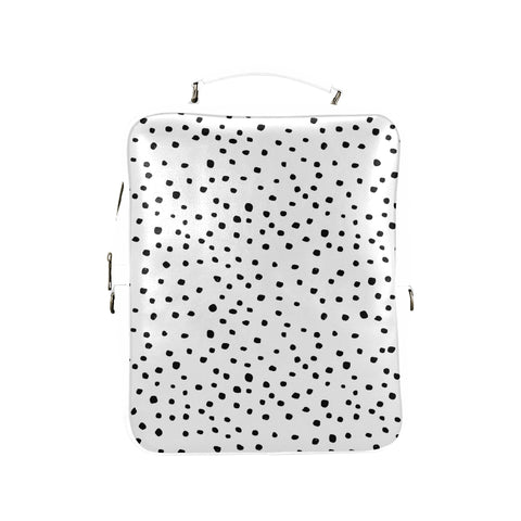 Black Dots on White Backpack
