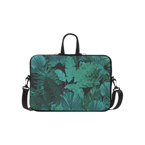 Dark Green Tropical Laptop Bag 15.6""