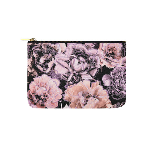 Bold Floral Purple Clutch