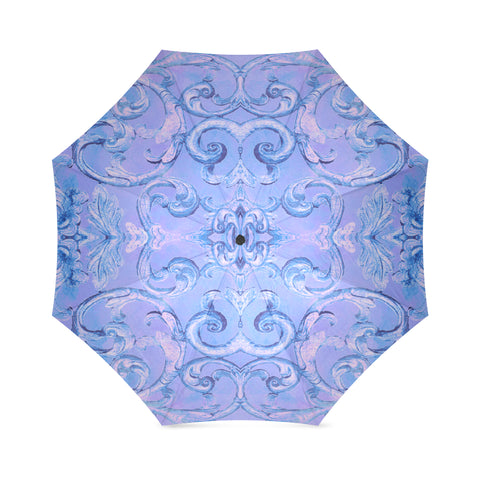 Antique Thai Pattern Blue Umbrella