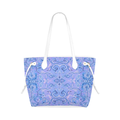Antique Thai Pattern Periwinkle Shoulder Bag