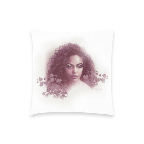 Aria Burgundy Pillow Case