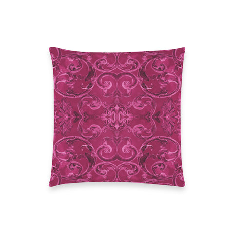 Antique Thai Pattern Fuchsia Pillow Case