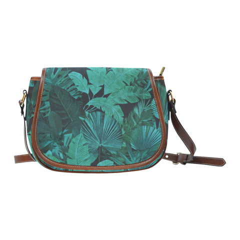 Dark Green Tropical Crossbody Bag
