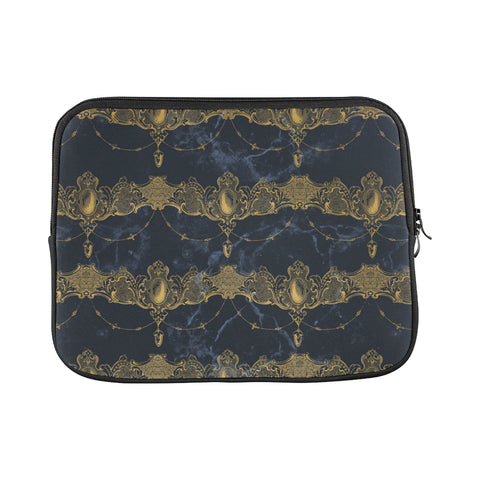 Blue Marble Draped Jewels Laptop Sleeve 11""
