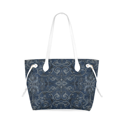 Antique Thai Pattern Dark Blue Shoulder Bag
