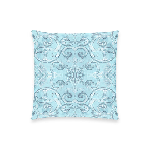 Antique Thai Pattern Pale Blue Pillow Case