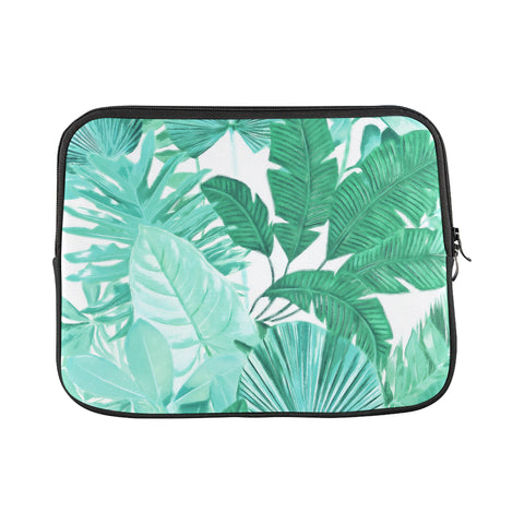Green Tropical Laptop Sleeve 11""