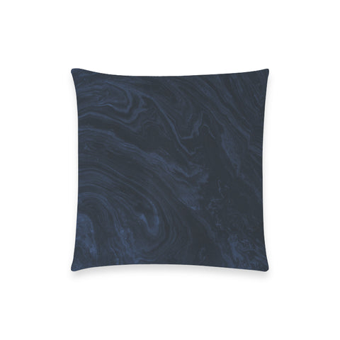 Dark Blue Marble Pillow Case