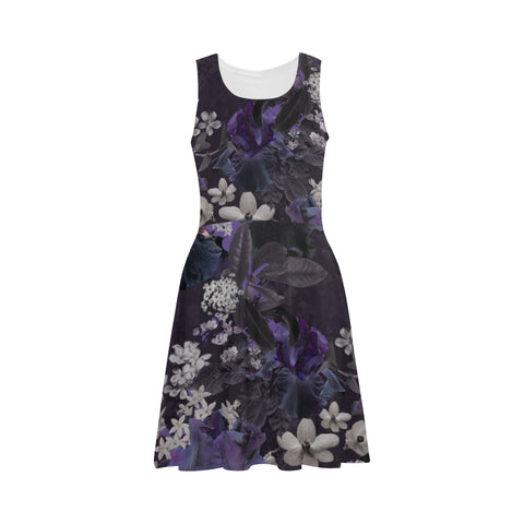 Lalia Dark Floral Fit and Flare Dress