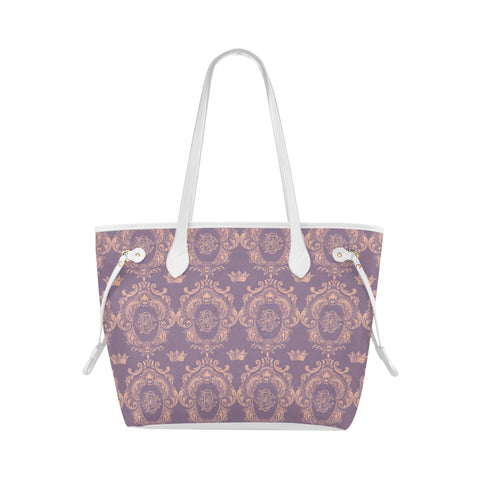 Lavender Pink Castlefield Pattern Shoulder Bag