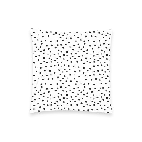 Black Dots on White Pillow Case