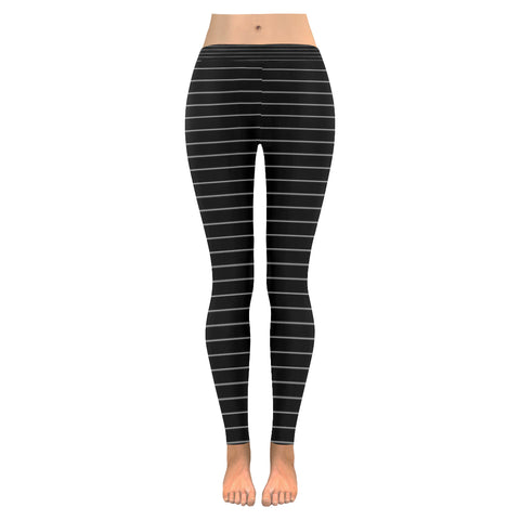White Stripes on Black Leggings