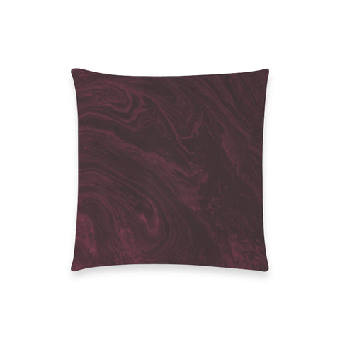 Burgundy Marble Pillow Case