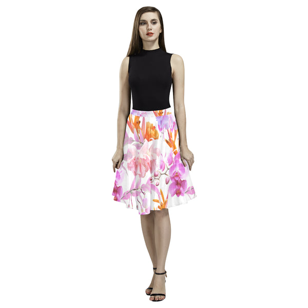 Tropical Bahamas Orange Lilac Full Skirt