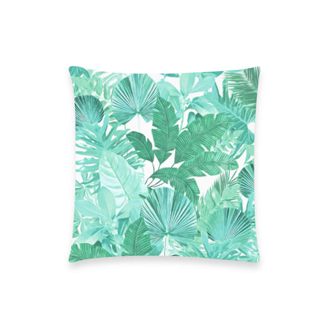 Green Tropical Pillow Case