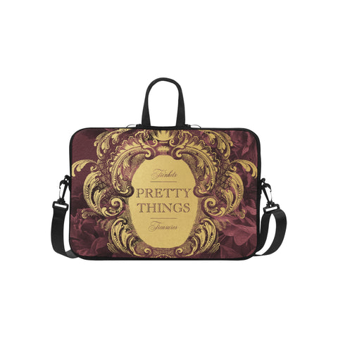 Pretty Things Burgundy Laptop Bag 15.6""