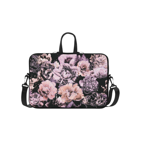 Purple Bold Floral Laptop Bag 15.6""