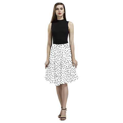 Black and White Dots Full Skirt