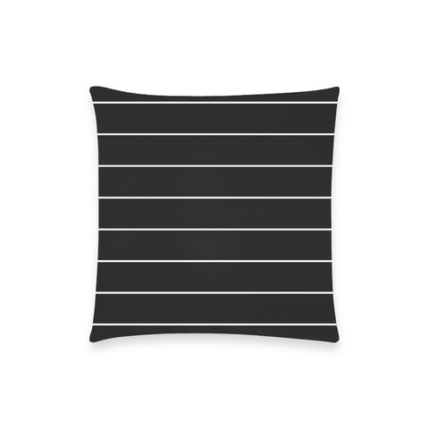 White Stripes on Black Pillow Case