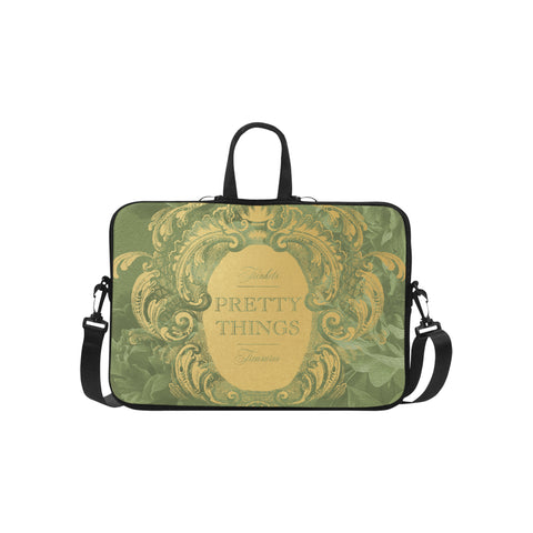Pretty Things Green Laptop Bag 15.6""