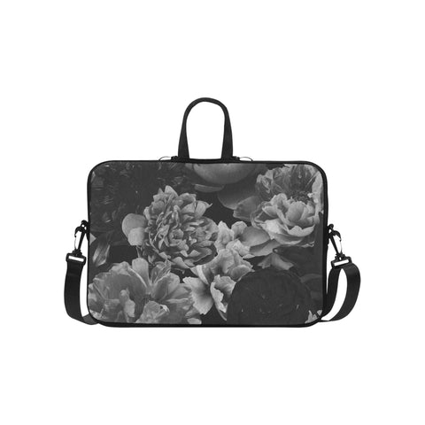 Black Floral Laptop Bag 15.6""