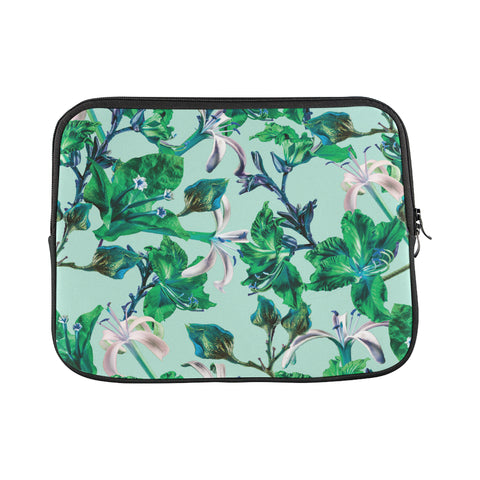 Blue Tropical Bramble Laptop Sleeve 11""