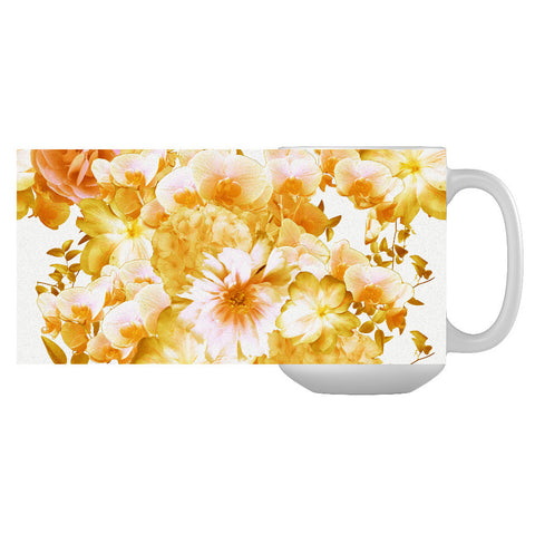 Yellow Romantic Floral Mug