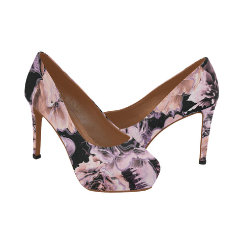 Bold Floral High Heels - 2 Color Options