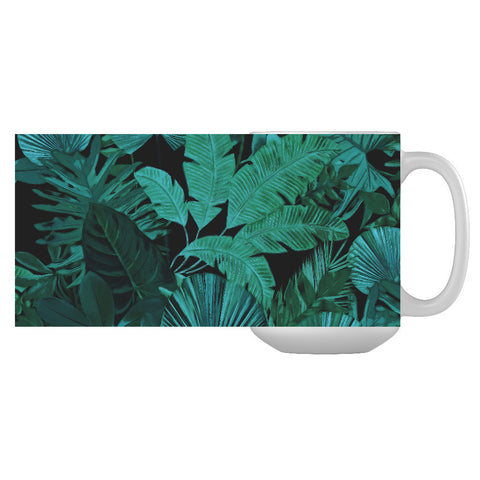 Dark Green Tropical Mug